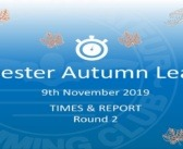 Leicester Autumn League Round 2 – November 2019: Times and Report