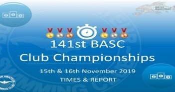 141st BASC Club Championships 2019 : Times & Report