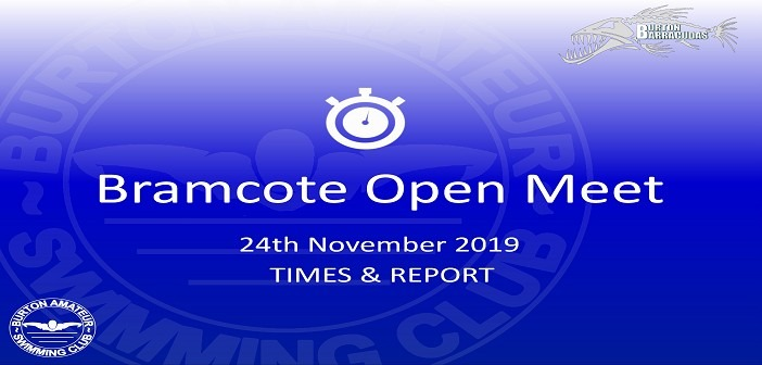 Bramcote SC Open Meet November 2019: Times and Report