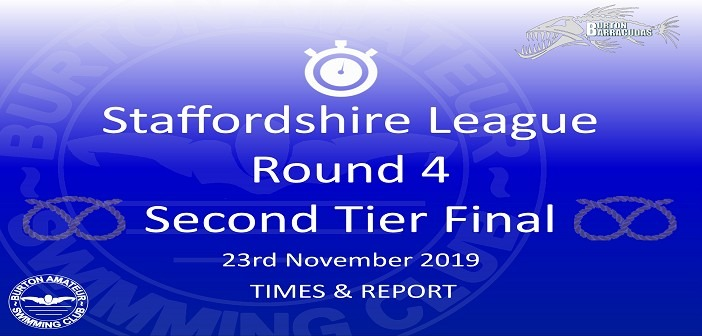Staffs League Round 4 – 2nd Tier Final November 2019: Times and Report