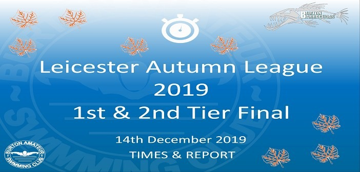 Leicester Autumn League Round 3 – December 2019: Times and Report
