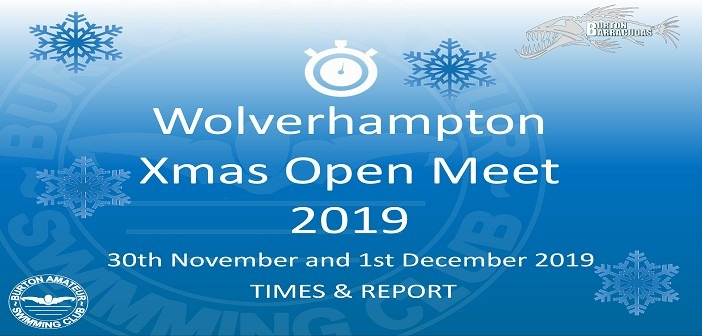 Wolverhampton Open Meet November 2019: Times and Report